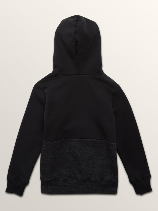 Little Boys Single Stone Division Pullover Hoodie In Sulfur Black, Back View