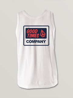 Little Boys Volcom Is Fun Tank In White, Back View
