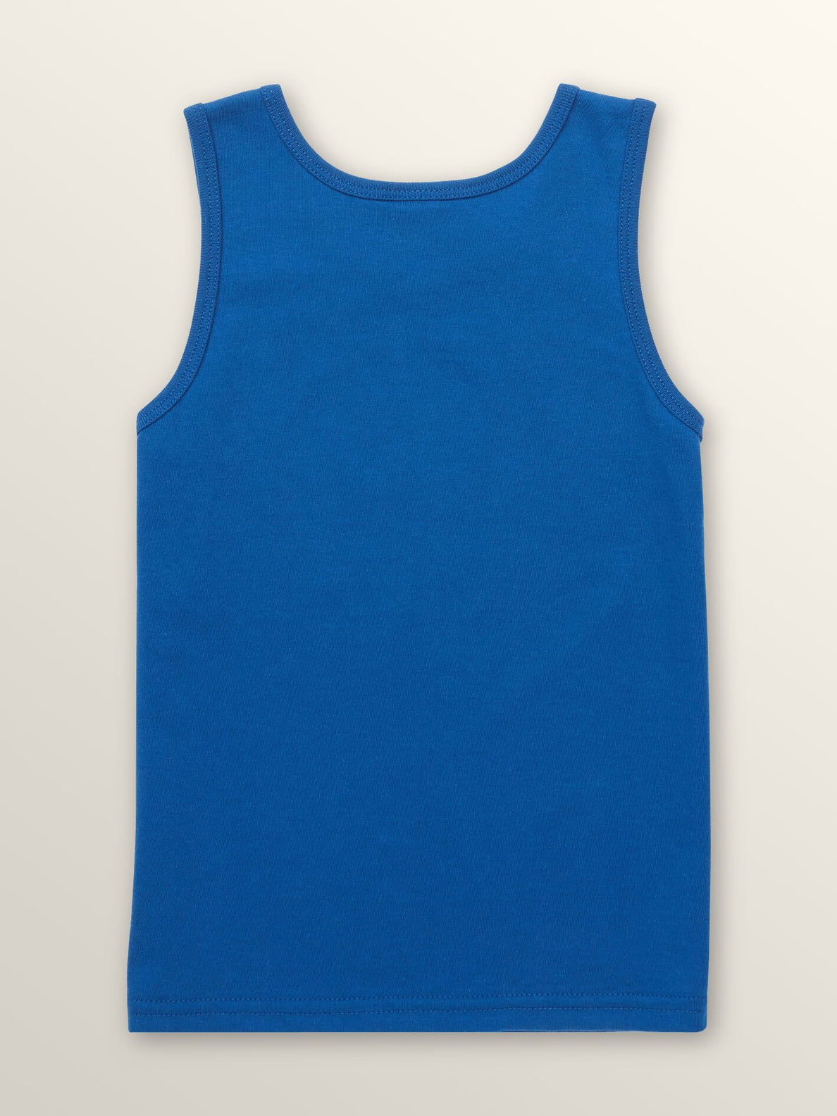 Little Boys Surf Skull Tank In Camper Blue, Back View