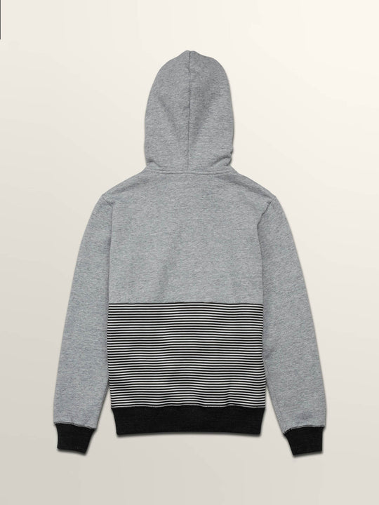 Little Boys Threezy Zip Hoodie In Grey, Back View
