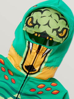 Little Boys Hot Wheels'Ñ¢ Turboa Zip Fleece Hoodie In Green, Second Alternate View