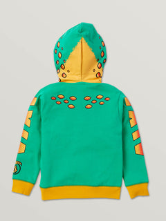 Little Boys Hot Wheels'Ñ¢ Turboa Zip Fleece Hoodie In Green, Back View