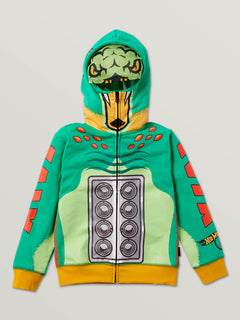 Little Boys Hot Wheels'Ñ¢ Turboa Zip Fleece Hoodie In Green, Front View
