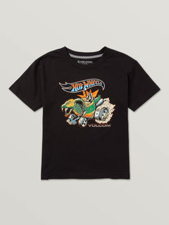 Little Boys Hot Wheels'Ñ¢ Turboa Short Sleeve Tee In Black, Front View