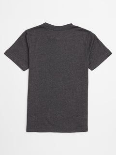Little Boys Circle Stone Short Sleeve Tee In Heather Black, Back View