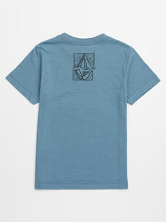 Little Boys Edge Tee In Wrecked Indigo, Back View