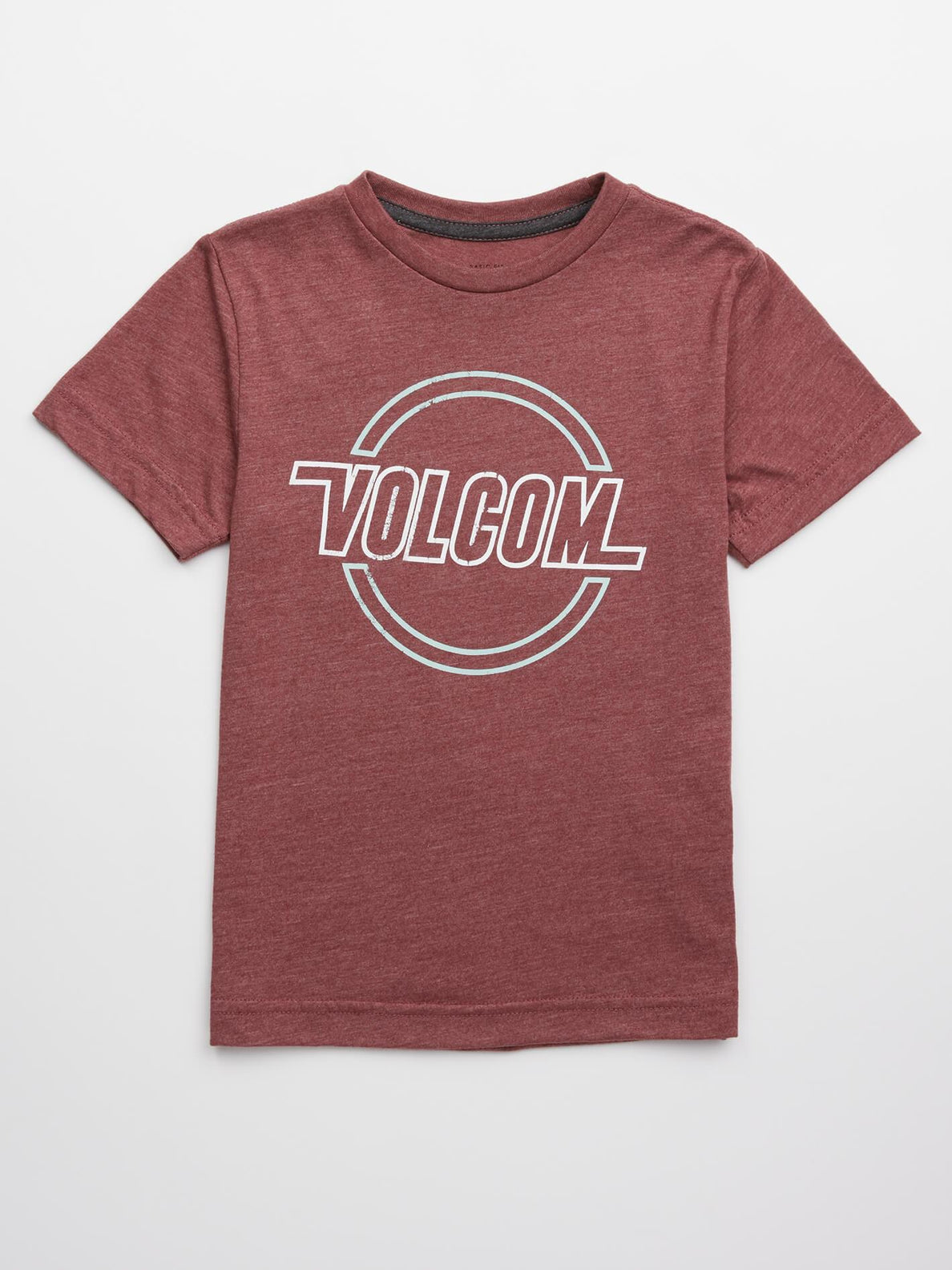 Little Boys Lo Tech Tee In Crimson, Front View