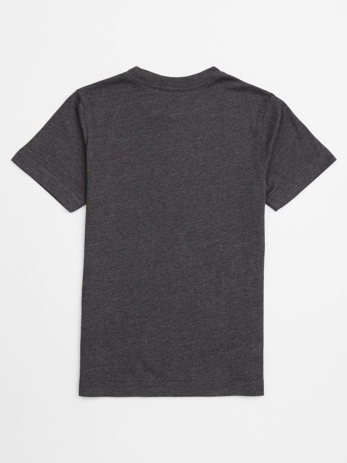Little Boys Lo Tech Tee In Heather Black, Back View