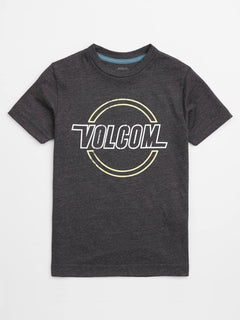 Little Boys Lo Tech Tee In Heather Black, Front View