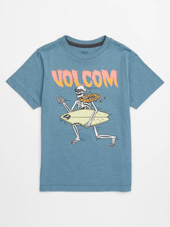 Little Boys Stoker Tee In Wrecked Indigo, Front View
