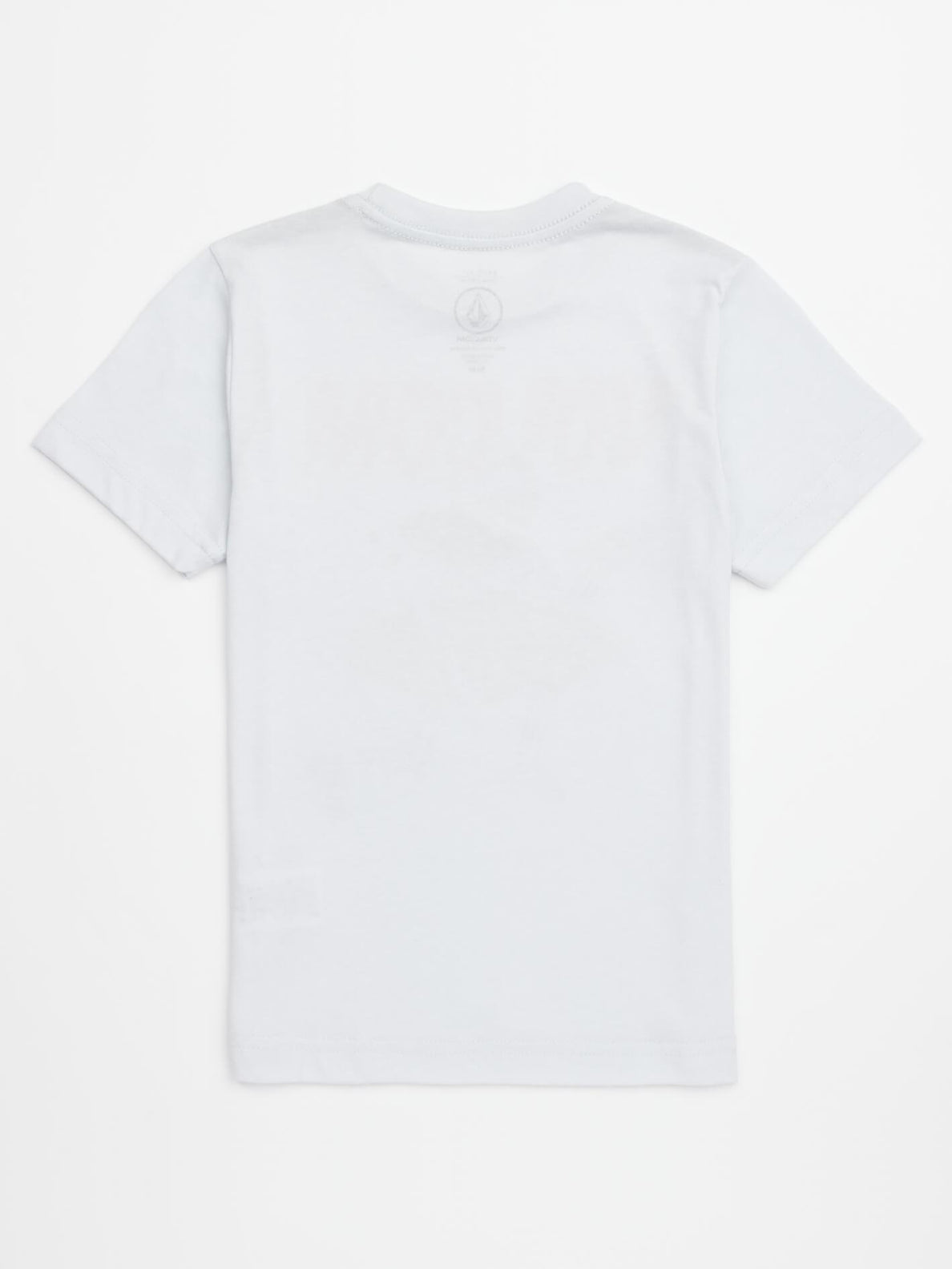 Little Boys Shark Stone Tee In White, Back View