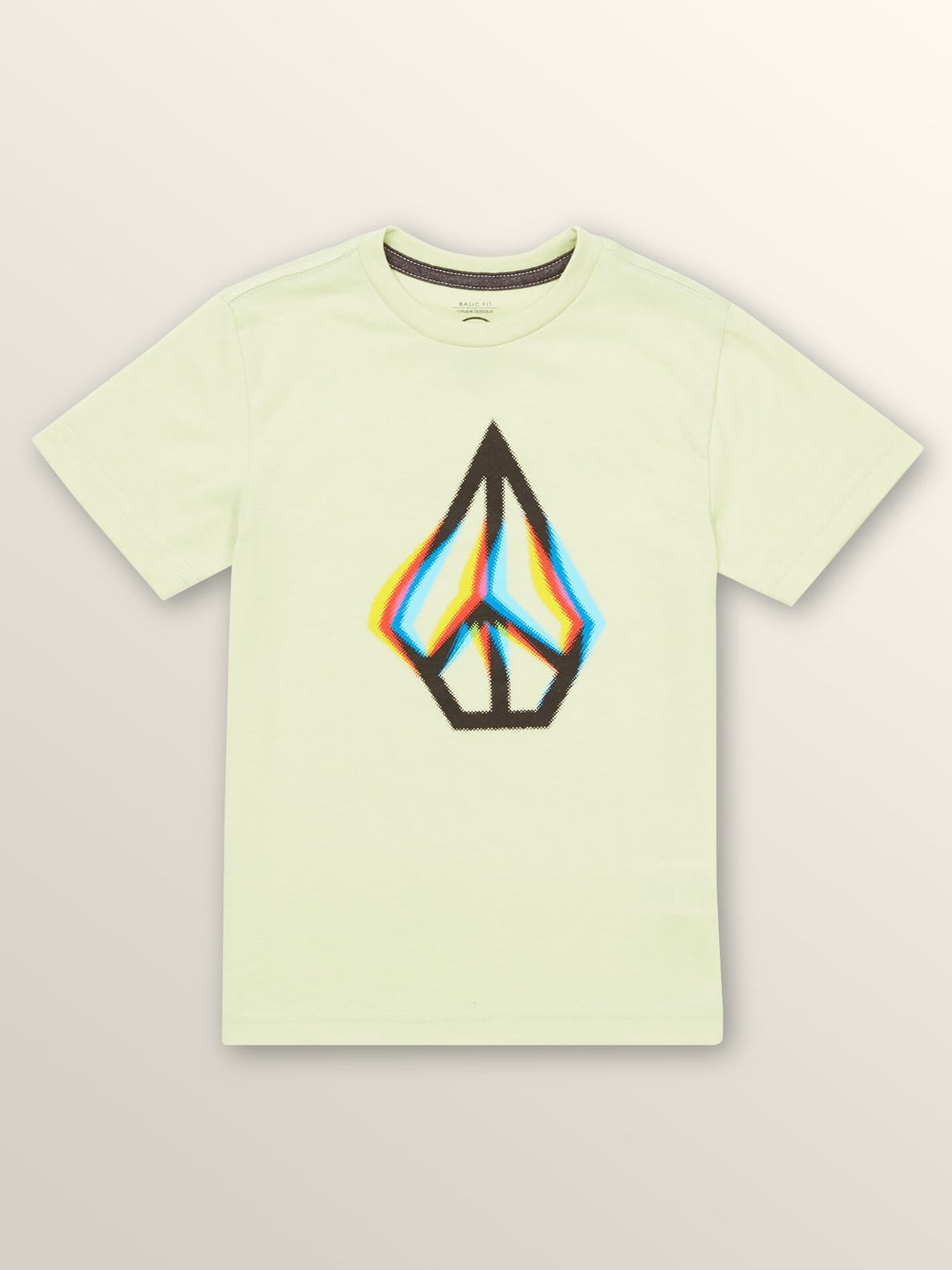Little Boys Peace Blur Short Sleeve Tee In Mist Green, Front View