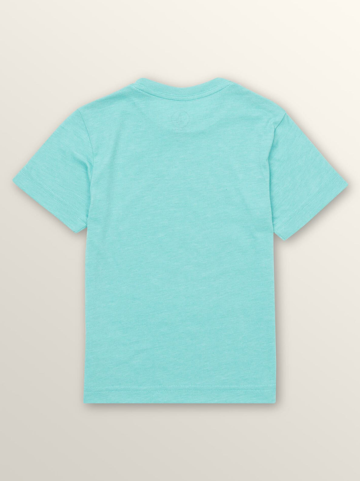 Little Boys In Fill Short Sleeve Tee In Turquoise, Back View