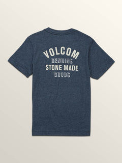 Little Boys Safe Bet Short Sleeve Tee In Navy, Back View