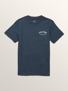 Little Boys Safe Bet Short Sleeve Tee In Navy, Front View