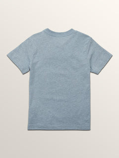 Little Boys Line Tone Short Sleeve Tee In Arctic Blue, Back View