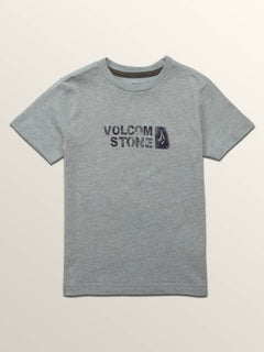 Little Boys Stence Short Sleeve Tee In Arctic Blue, Front View