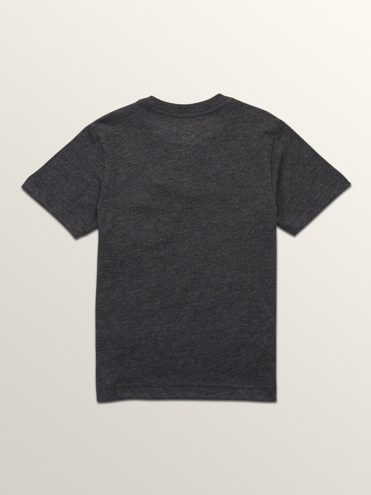 Little Boys Macaw Short Sleeve Pocket Tee In Heather Black, Back View