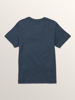 Little Boys Macaw Short Sleeve Pocket Tee In Navy, Back View