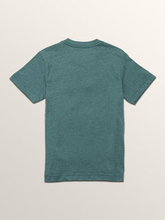 Little Boys Macaw Short Sleeve Pocket Tee In Pine, Back View
