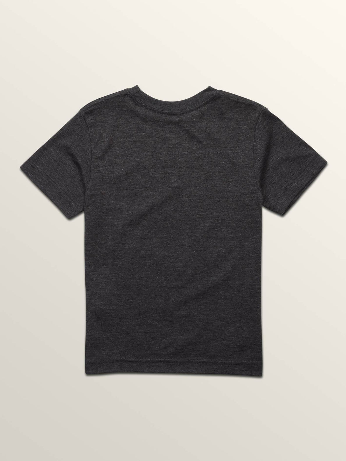 Little Boys Severed Short Sleeve Tee In Heather Black, Back View