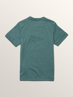 Little Boys Severed Short Sleeve Tee In Pine, Back View