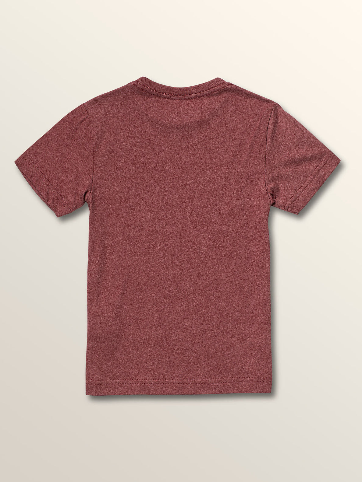 Little Boys Idle Short Sleeve Tee In Crimson, Back View