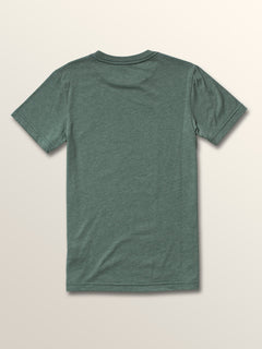 Little Boys Swirly Short Sleeve Tee In Pine, Back View