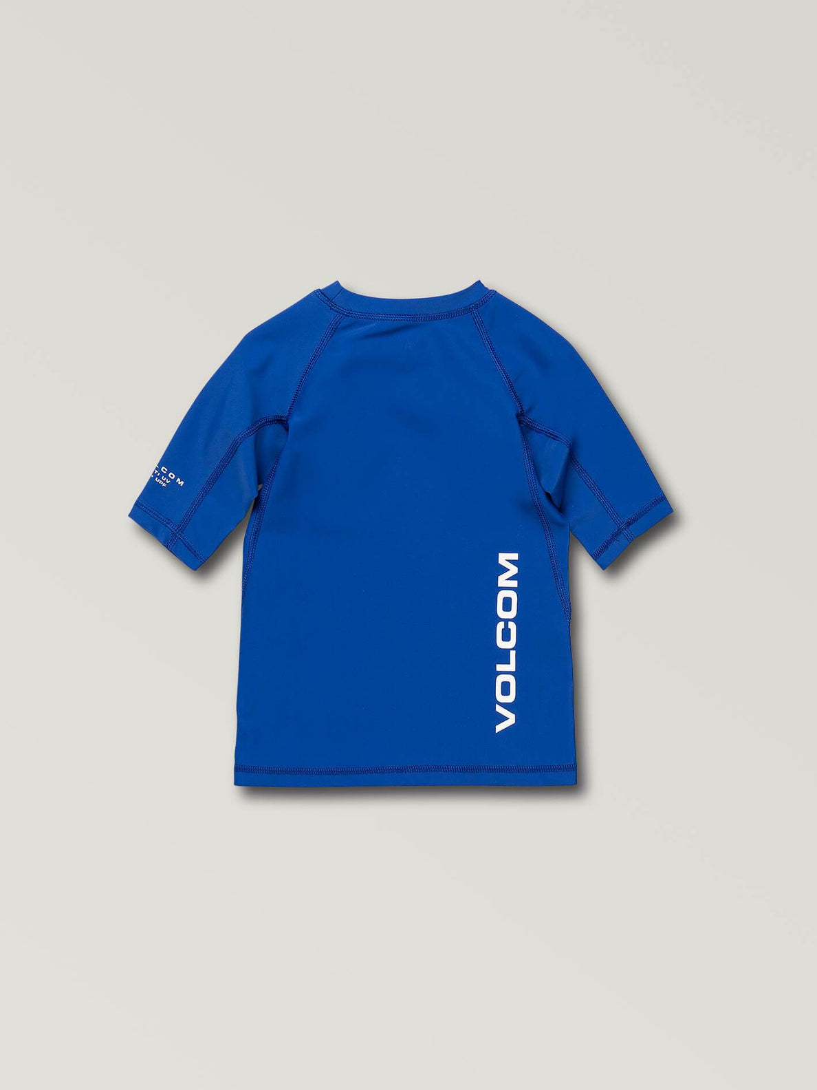 Little Boys Lido Solid Short Sleeve Rashguard In Snow Royal, Back View
