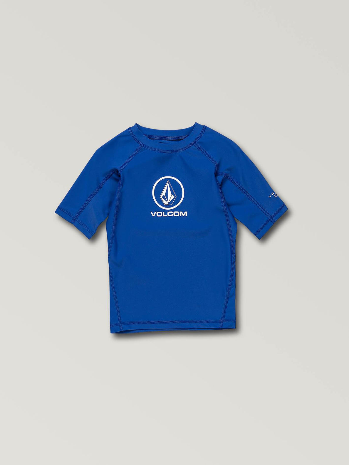 Little Boys Lido Solid Short Sleeve Rashguard In Snow Royal, Front View