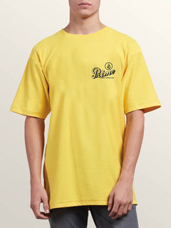 Primo Island Short Sleeve Tee In Cyber Yellow, Front View