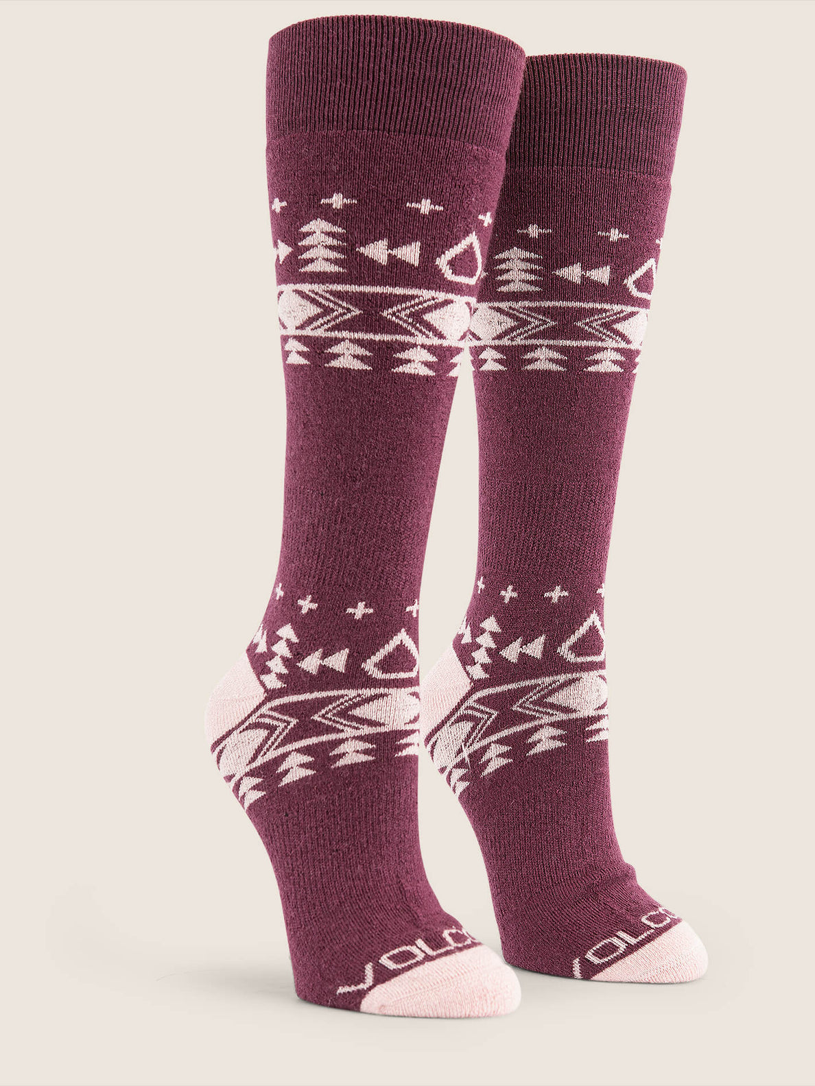 Tundra Tech Sock In Merlot, Front View