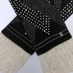 $720 NEW Louis Vuitton METAL Chain Fringe Men Silk Bandeau Evening Tuxedo Scarf