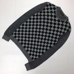 RARE Louis Vuitton Men LV Grey DAMIER Monogram Logo SILK Jumper Sweater Pullover