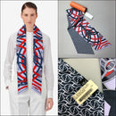 NEW Hermes MAXI Twilly Cut Cavalcadour à Cheval Silk Head Neck Waist Scarf GM