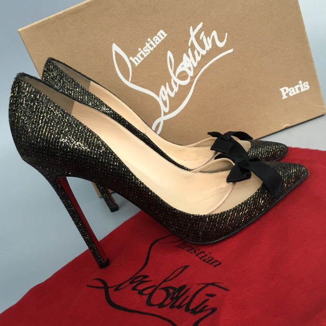 Christian Louboutin Love Me 120 Lady Pigalle Glitter Follies Heel Shoe Size 37.5