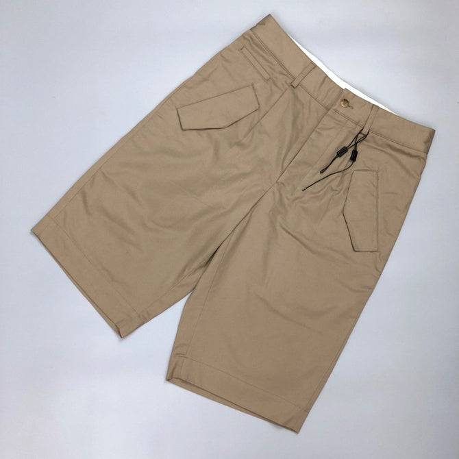NEW YSL Saint Laurent Men Tan Cotton Summer Pant Bermuda SHORTS Size S 32