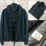 RARE Hermes Sellier Men Navy Goose Down Puffer Gilet Bomber Jacket Size L IT50