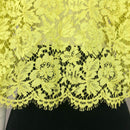 Valentino Women Summer Lemon Yellow Cotton Floral Lace Blouse Shirt Top S M US4