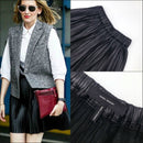 $1450 Isabel Marant Carla Black Micro Pleated Leather Mini Short Skirt Size 36 S