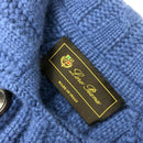 Rare Loro Piana Ladies Blue CASHMERE Knitted Long Jacket Coat Size IT44 M US6