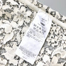 $800 Valentino Women White Black Embroidered Floral LACE Blouse Shirt Top Size S