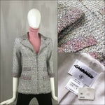 NEW Chanel SORBET PINK Ribbon LESAGE TWEED Fantasy Jacket Blazer Size FR36 US2 4
