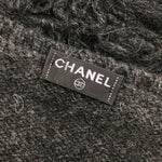 Chanel Grey CASHMERE Wool Knit Jumper Sweater Pullover Top Size XS 34 US 0 2