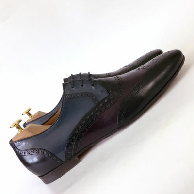 RARE Gucci Mens Formal TRICOLOUR Leather Lace Up Brogues Shoes Size 43.5 US10.5
