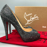 $3300 NEW Christian Louboutin Very Riche 120 Strass Crystal High Heel Shoes 39.5