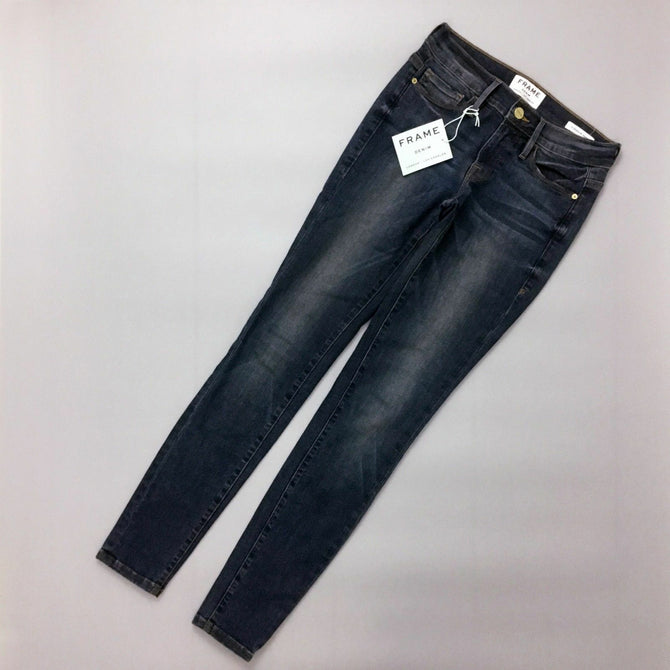 NEW Frame Denim Women Kenwood Le Skinny de Jeanne Denim Jeans Size 24 XS US 0 2