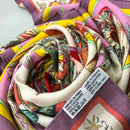 RARE Hermes Pink Yellow Red Kachinas CASHMERE SILK 140cm Large Shawl Scarf Stole