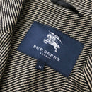 NEW Burberry Mens Grey Black Single Breasted Wool Suit Jacket Blazer Size L IT50