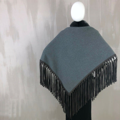 £8K Loro Piana BABY CASHMERE Chinchilla Flamenco Scarf Shawl Dressing Stole Cape